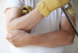 Painful Elbow On East End Workman